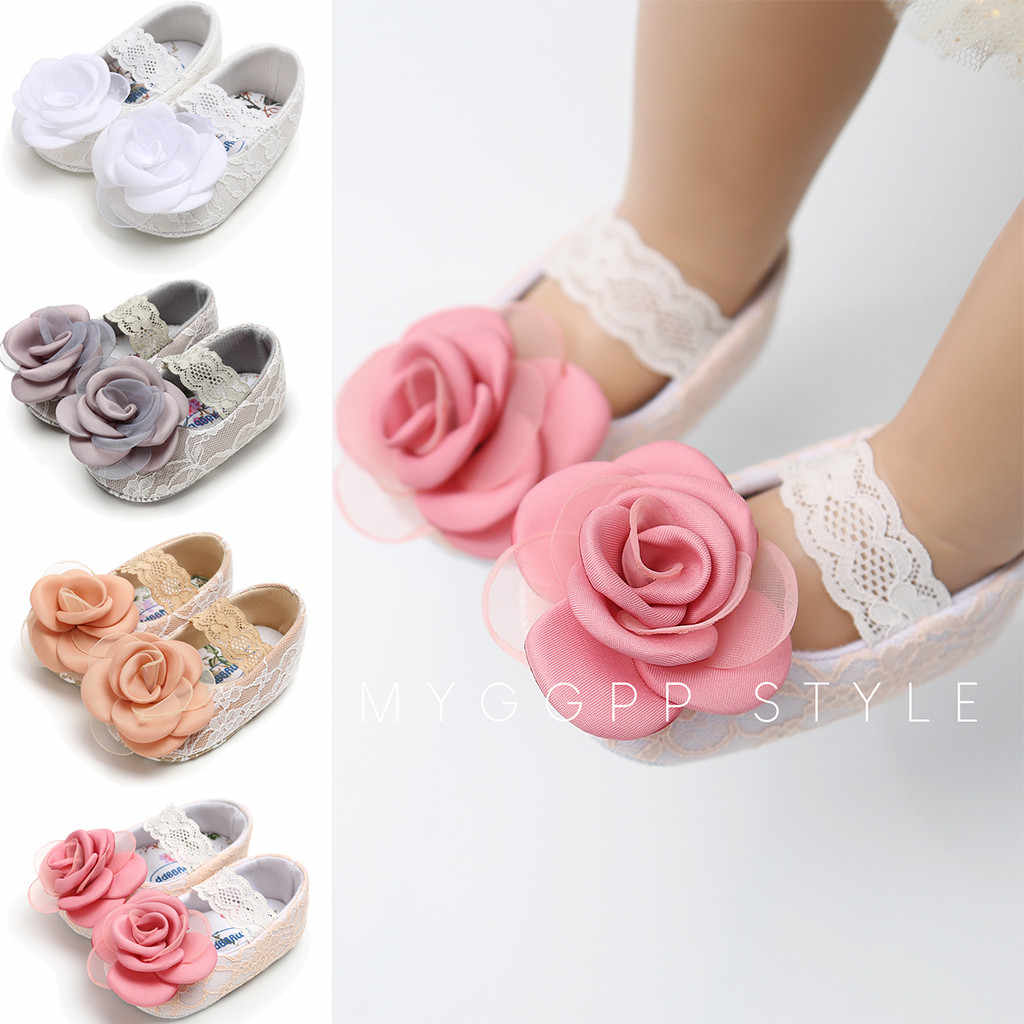 Baby girl shoes rose lace cotton shoes cute princess does not tie the mouth toddler shoes fashion children first walker shoes