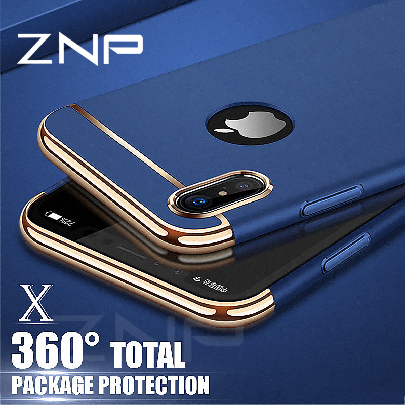 ZNP Luxury Degree Ultra Thin Protective Case For iphone X Cases Shockproof