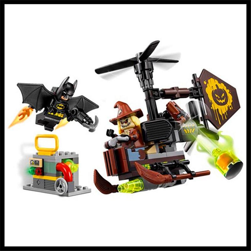 LEPIN 07078 156Pcs Batman Scarecrow Fearful Face-Off Building Block Compatible Legoe Construction Figure Toys Gift For Children