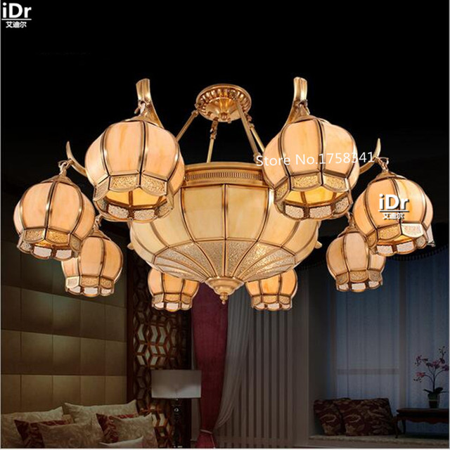 Chinese Lights All Copper Lamps Living Room Lamp Bedroom Upscale Atmosphere Retro Restaurant Chandeliers