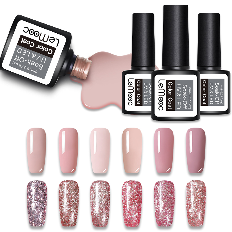 Nail Gel Gdcoco Gel Varnish 8ml 50 Colors Canni New Arrival Soak Off Uv Led Nail Art Design Soft Pink Long Last Glitter Polish Nail Gel Nails Art & Tools