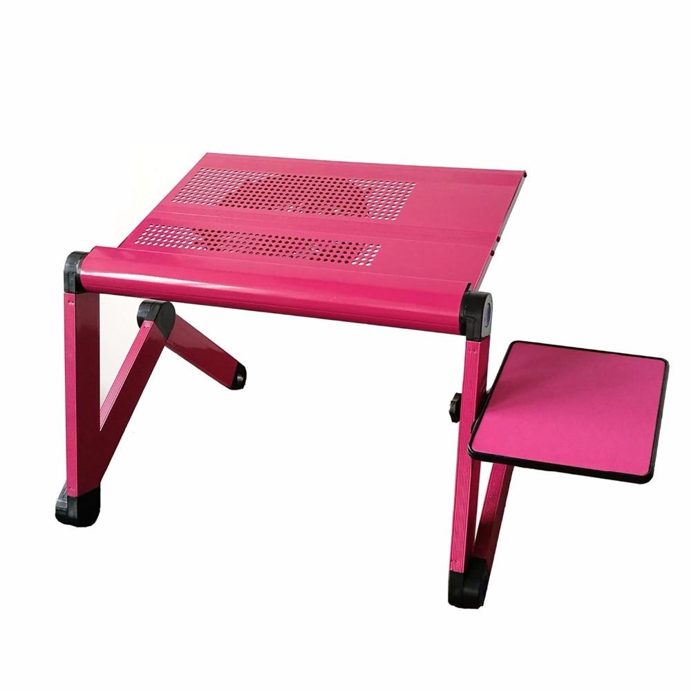 Laras meja komputer riba yang boleh laras pendirian meja sofa dengan - Perabot - Foto 3