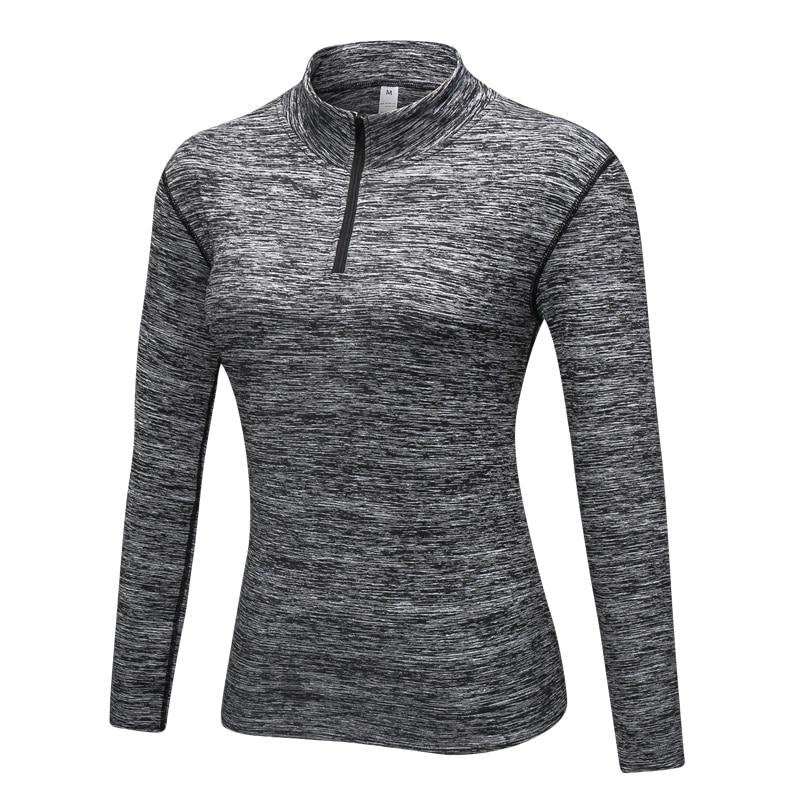 # 8005 Zimní podzim Ženy Sportovní běh Jogging Fitness Fitness Jóga s dlouhým rukávem Tops Košile Thermal Top Tees Tričko Female S-XXL