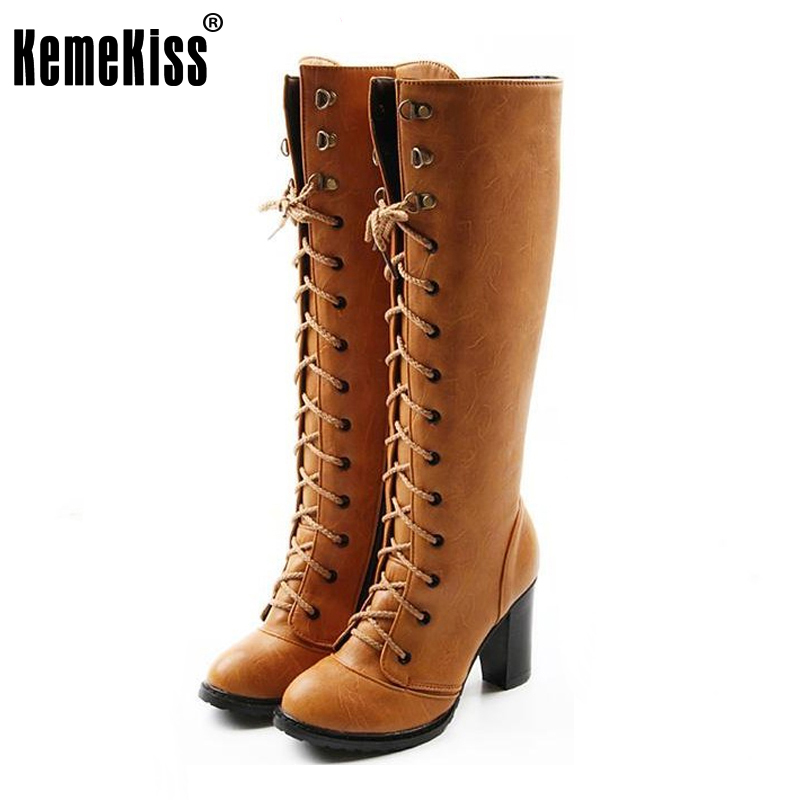 size 35-43 women high heel over knee boots botas masculina snow boot warm winter heels quality cross strap footwear shoes AH103 winter warm snow boots cotton shoes flat heels knee high boots women boots wholesale high quality