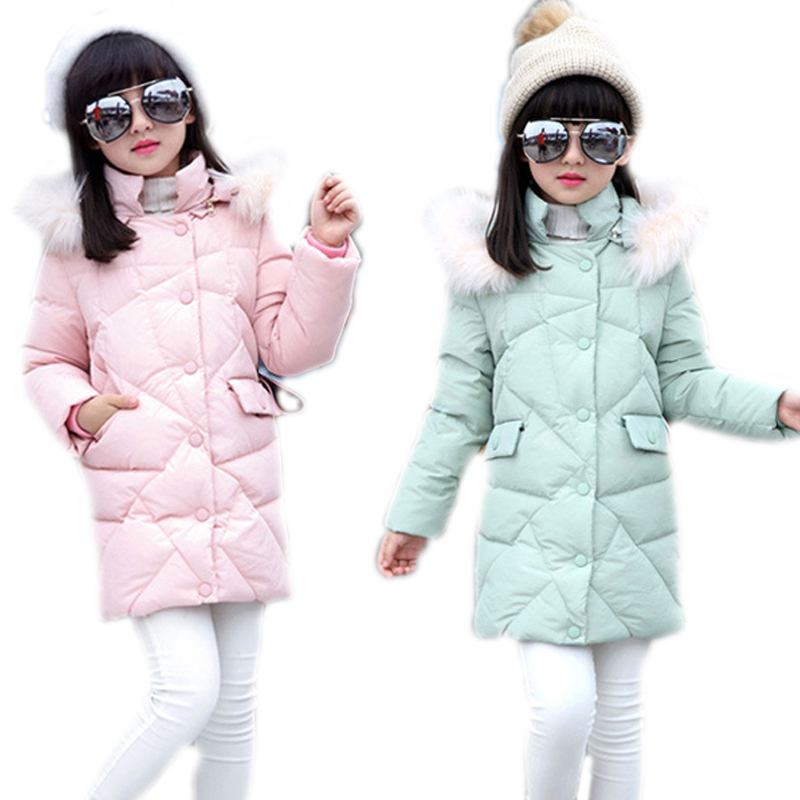 winter jacket for girls 2017 new girls winter coat solid single breasted girls winter coat detachable hooded girls parkas 5-10T jm collection new navy single breasted coat l $99 5 dbfl