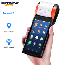 Android 7.1 PDA Handheld POS Terminal  Sunmi V2 eSIM 4G WiFi with Camera speaker Receipt Printer for mobile order market