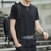 COODRONY Casual Button O-Neck T-Shirt Men Short Sleeve Tee Shirt Homme T Clothes 2019 Summer New Arrival Tshirt S95093