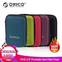 ORICO черный/красный/зеленый/фиолетовый/синий PHD-25 2,5 дюймов Защитная сумка для внешних портативный Коробка-чехол на HDD