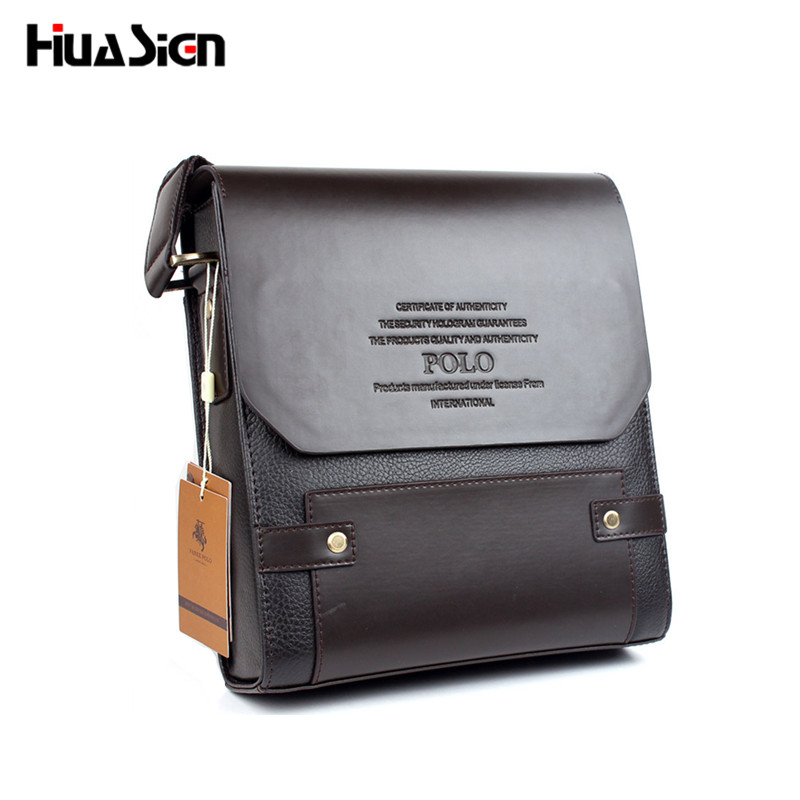 Hot Sale Men Bag Composite Leather Solid Men Messenger Bag casual business  Crossbody vintage fashion mens cross body bag L4 4df57e91df649