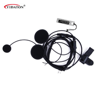 Portable Radio Accessories Motorcycle Helmet Headset Earpiece For MOTOROLA 2 PIN Ham Radio Walkie Talkie Two