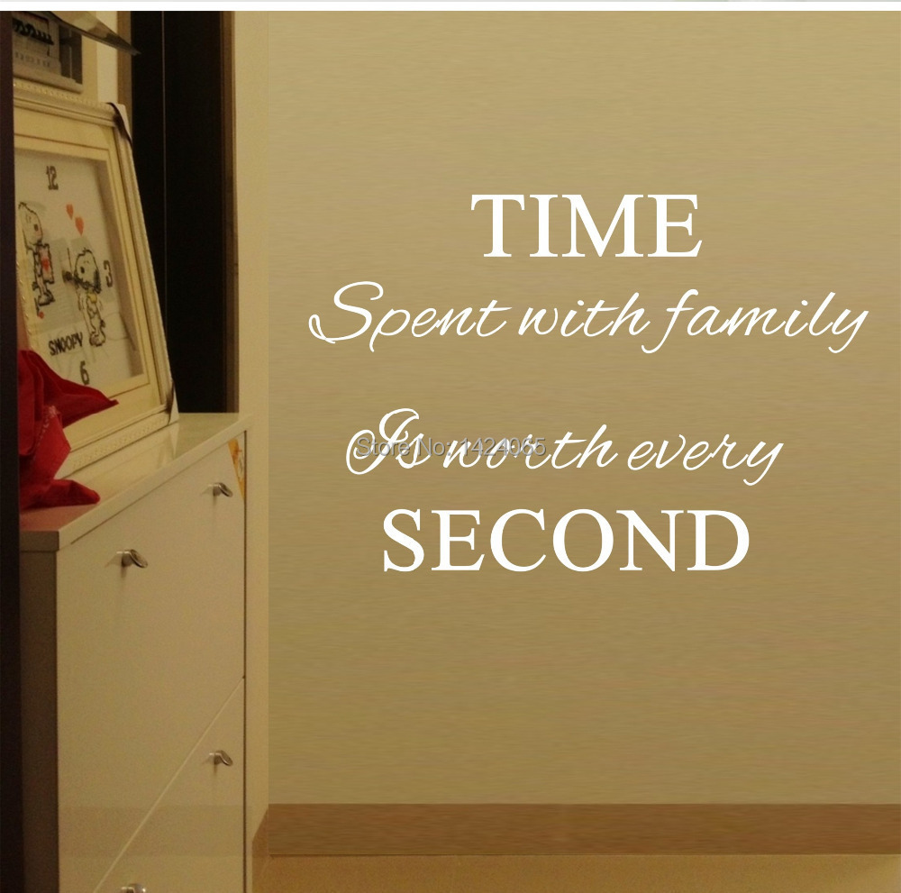 time handlebar picture more detailed picture about time spent time spent with family is worth every 02 vinyl wall decals quotes sayings word on wall