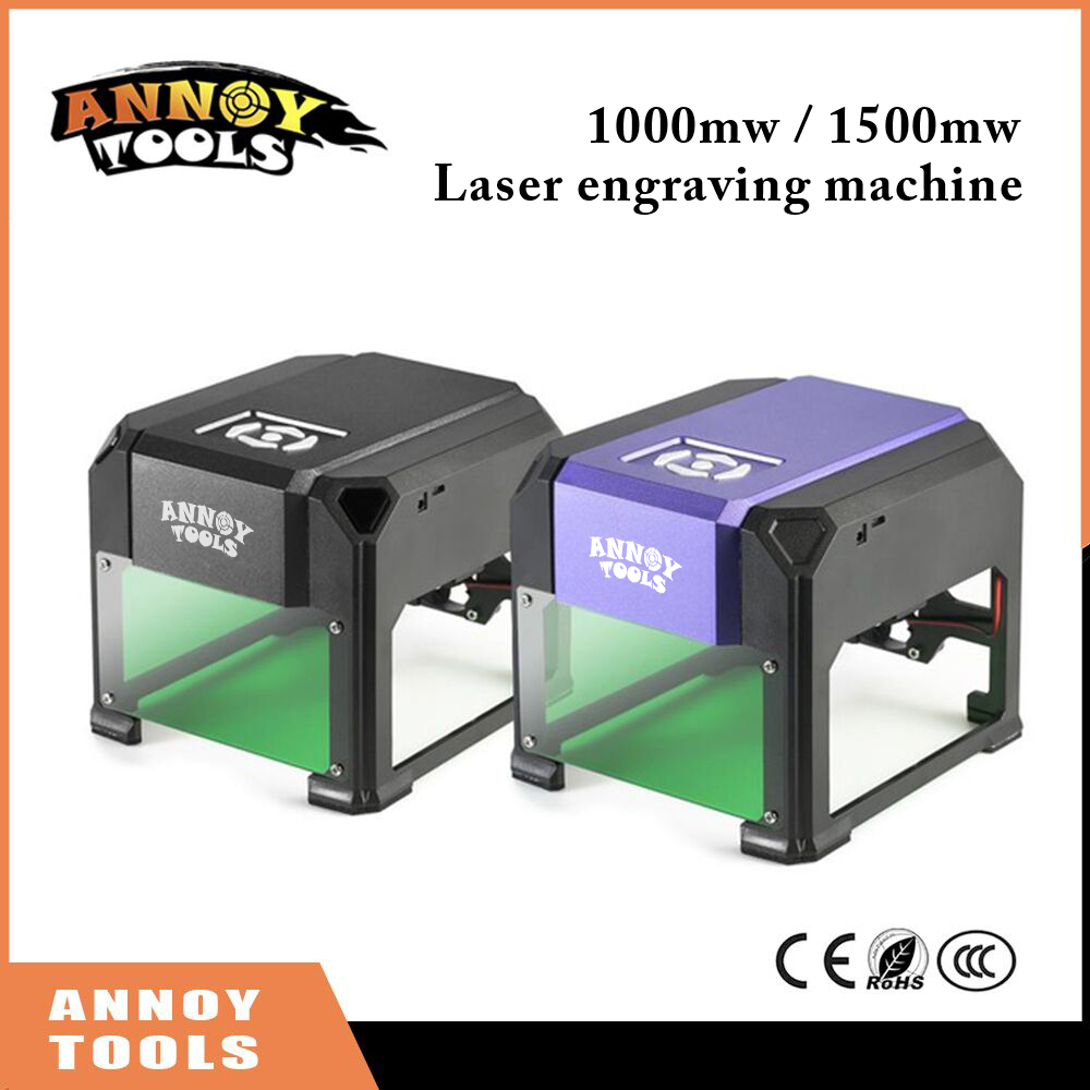1000mW 1500mW cnc router laser cutter DIY Print laser engraving machine Mini lettering machine Custom logo 80*80mm working area disassembled pack mini cnc 1610 2500mw laser cnc machine pcb wood carving machine diy mini cnc router