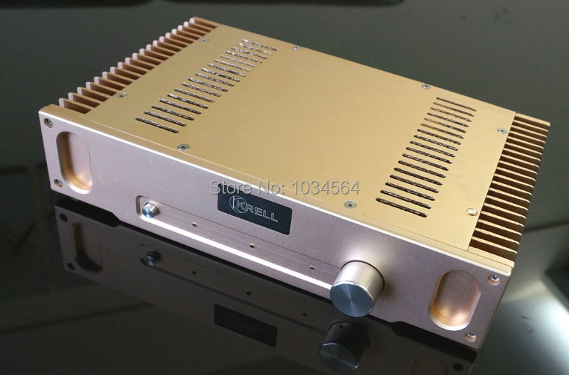 ФОТО 2014 Luxury Class A HD1969 amplifier chassis enclosure 336*75*208 mm Silver/Gold