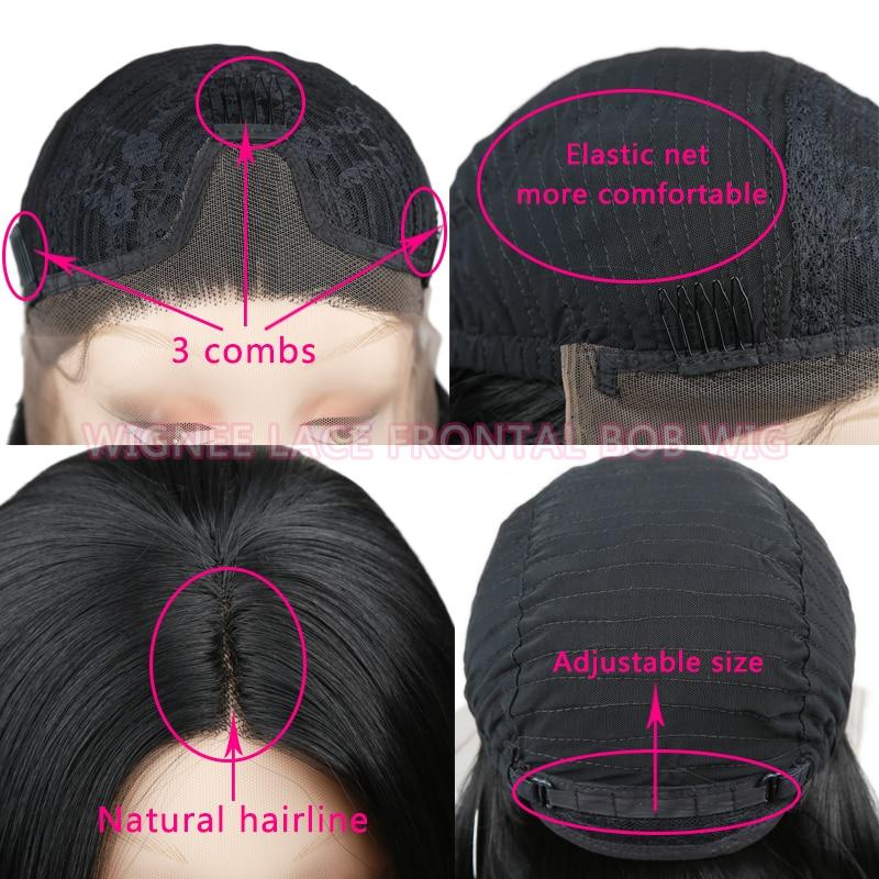 Wignee Σύντομη Bob Lace Περούκες Συνθετικές - Συνθετικά μαλλιά - Φωτογραφία 6