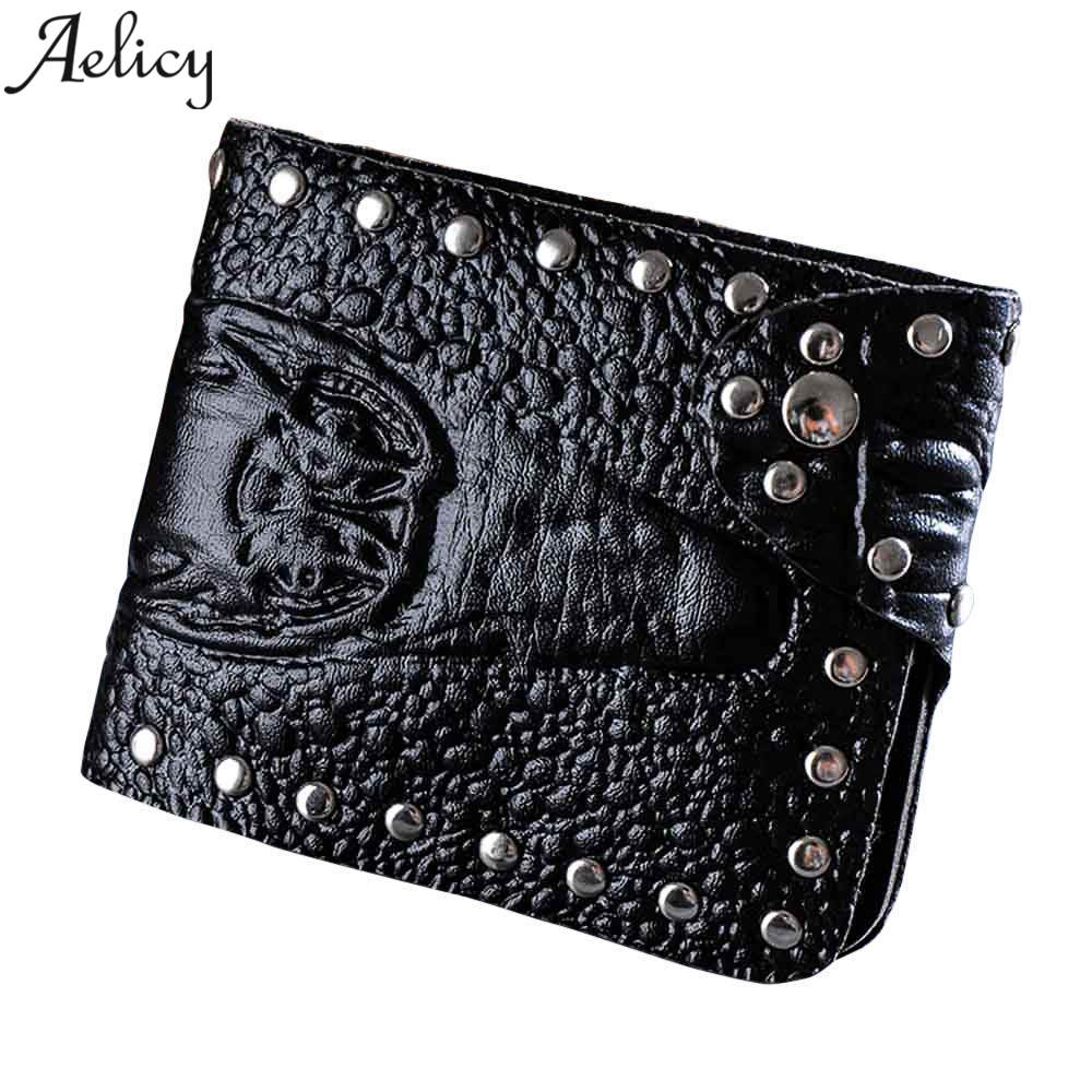 Aelicy Short Wallet Crocodile-Pattern High-Quality Handbag Card-Holders Coin-Purse Business