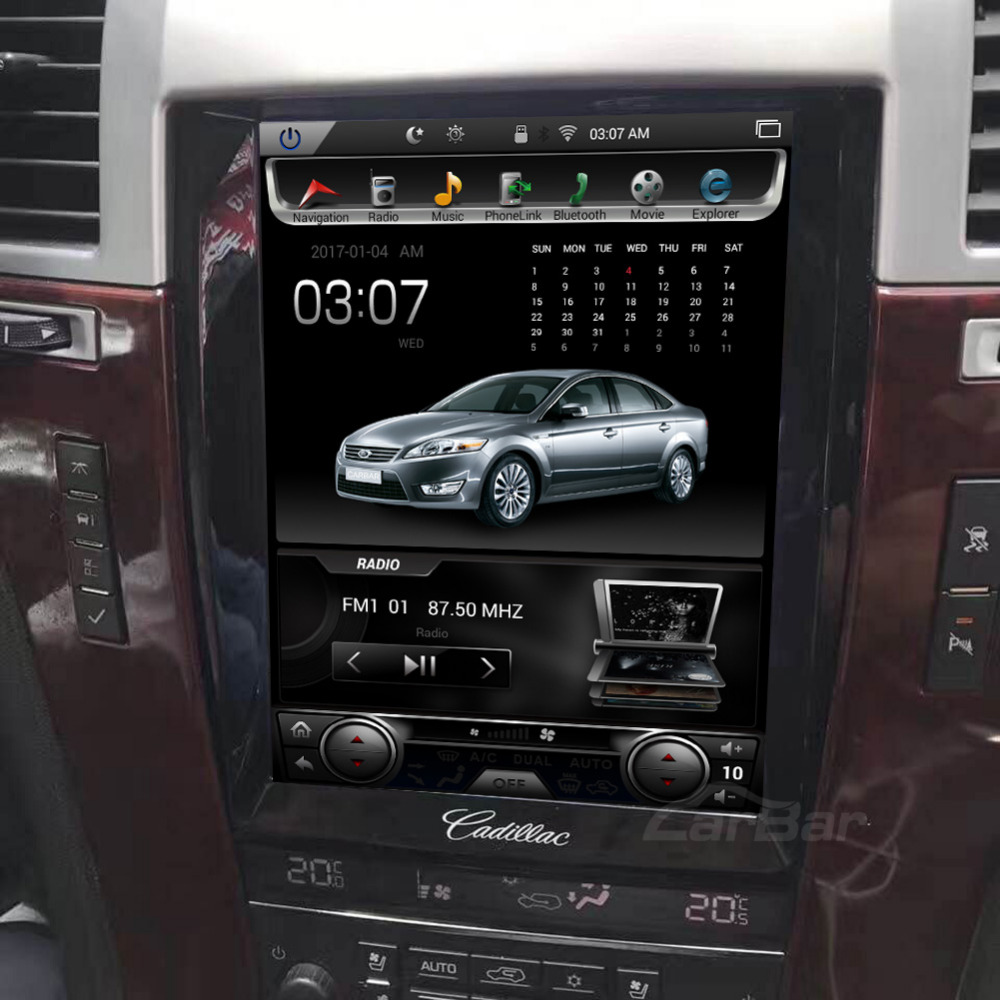 10.4 Vertical Tela Tesla 1024*768 Android Car DVD GPS Navigation Radio Audio Player para Cadillac Escalade RAM 2 gb 4 Núcleo