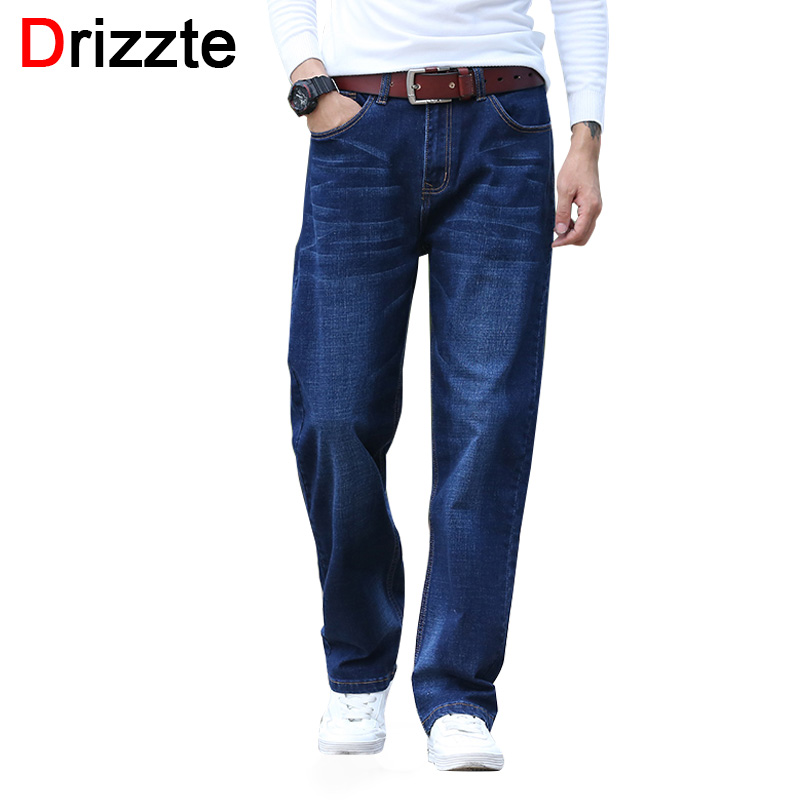e7cb3bfc02d Drizzte Blue Loose Fit Jeans Mens Stretch Denim Jean Relax Fit Trousers  Pants Jean Plus Size