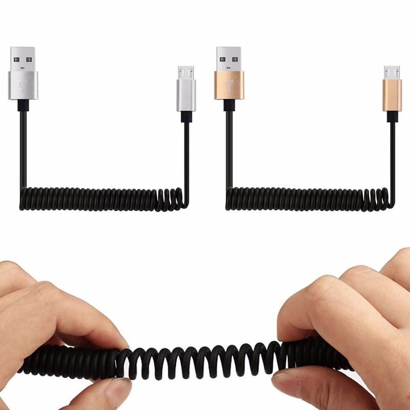 1 Mt Micro Usb Charger Frühling Spiral Spiralkabel Daten Sync Für Samsung S6 S7 Lg