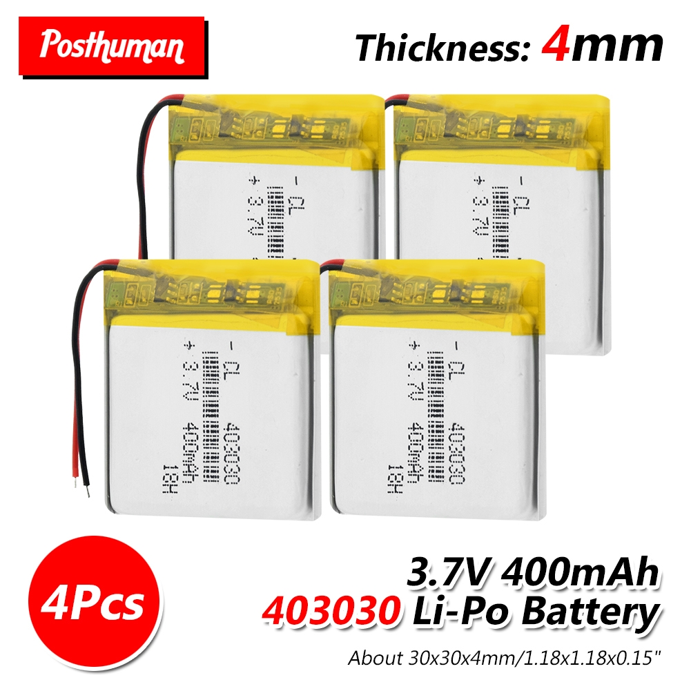 <font><b>3.7V</b></font> 400mAh 403030 Rechargeable <font><b>Battery</b></font> Lithium Polymer Li-Po li ion <font><b>Battery</b></font> <font><b>Lipo</b></font> cells For GPS MP3 MP4 Watch Wireless Telephone image