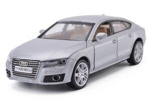 Image 4 - Hoge Simulatie 1:32 AUDI A7 Coupe Legering Model Auto Speelgoed Voertuigen Met Pull Back Voor Kinderen Kerstcadeaus Speelgoed Collectie