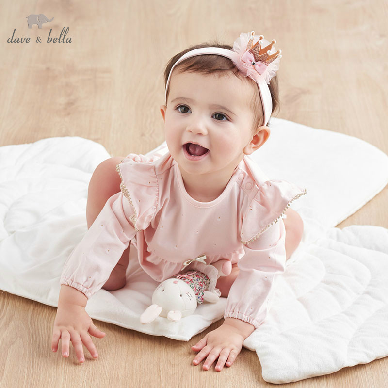 DBH10028 dave bella spring new born rompers baby long sleeve print jumpsuit infant toddler boutique onesies girls romperDBH10028 dave bella spring new born rompers baby long sleeve print jumpsuit infant toddler boutique onesies girls romper