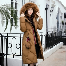 New 2017 Russia Style Fashion Winter Parka Women Large Fur Collar Coat Ladies Long Clothing Thickening Warm Winter Jacket  ZL866