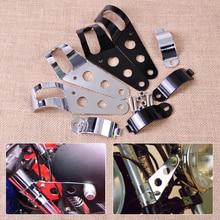 CITALL 4pcs 33-45mm Motorcycles Headlight Mount Holder Brackets for Harley Davidson Honda Kawasaki Ninja Bandit Yamaha Suzuki