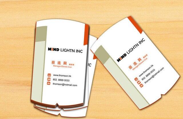 Die Cut Forme Personnalise Cartes De Visite Papier Dimpression Carte