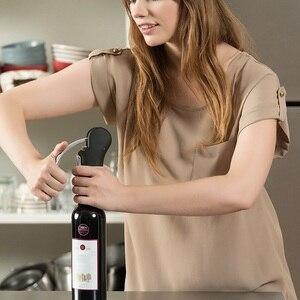 Image 4 - 새로운 와인 도구 세트 와인 오프너 바 레버 코르크 스크류 편리한 병 오프너 호일 커터 코르크 타이어 드릴 리프터 키트