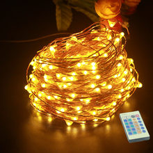 5M 10M 20M 30M 50M LED String Lights Outdoor Christmas Fairy Light Copper Wire Warm White With DC 12V Power Adapter Remote contr(China)