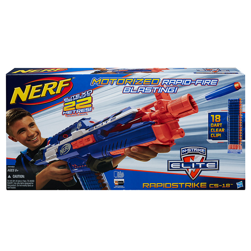 Licensed Nerf N Strike ELITE Motorized Rapid Fire Blaster Toy Gun with 18  Darts Refill Clip Darts nerf bullets-in Toy Guns from Toys & Hobbies on ...