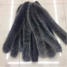Воротник из лисьего меха, шарф из натурального Лисьего меха, Воротник из натурального меха, шарф на заказ, зимний меховой шарф