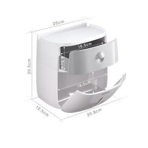 Image 5 - 무료 배송 방수 벽 마운트 화장지 홀더 선반 화장지 트레이 롤 종이 튜브 보관 상자 크리 에이 티브 트레이
