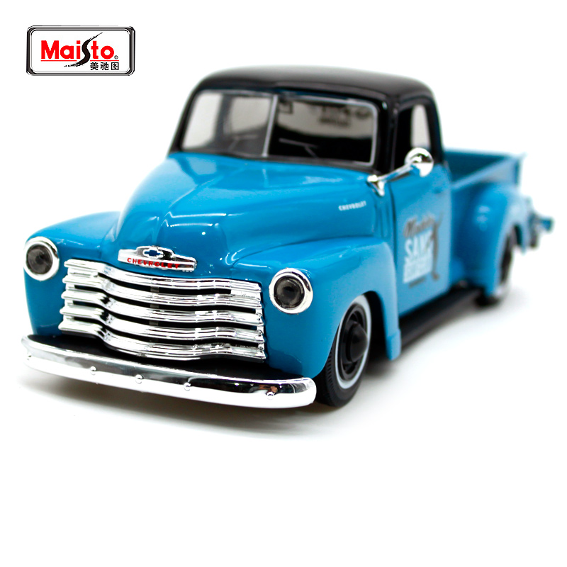 Maisto 1 25 1950 Chevrolet 3100 PICKUP Refitted Vehicle Vintage cars Diecast Model Car Toy New