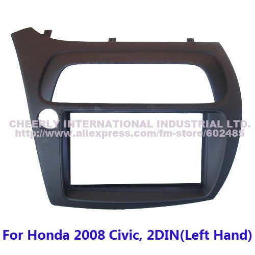 Double Din Special Car Dash Kit, Audio Frame, Fascia,Stereo Kit Honda Civic 2008, 2 DIN(Left Hand)-FN model, Europe Version - Cheerly International Industrial Ltd. store
