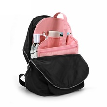 Backpack Organizer Insert Bag Nylon Handbag Diaper Gadget Organization Purse Liner with Carry Handle Mutil Pockets