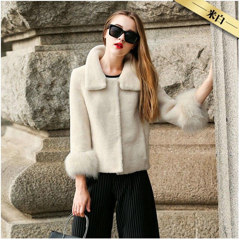 Mouton Manteau femme veste femmes veste manteau de fourrure de laine manteau Femmes vestes d'hiver de la vraie fourrure des femmes de fourrure manteaux d'hiver