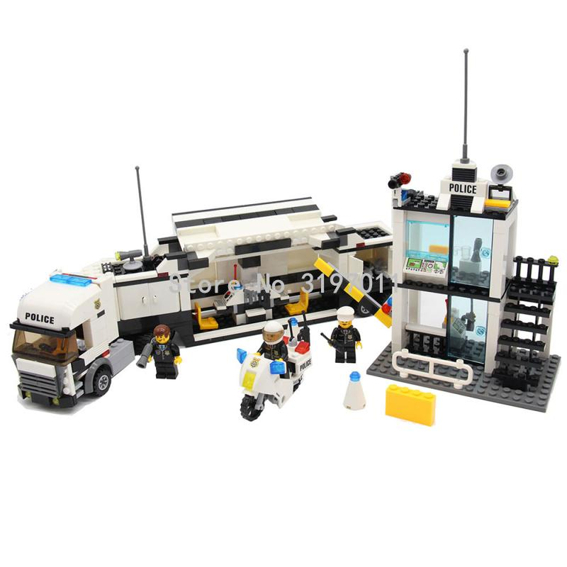 KAZI 6727 Police Station Model Building Blocks 511+pcs DIY Bricks Educational Toys For Children Compatible With Legoedly Brand 6727 city street police station car truck building blocks bricks educational toys for children gift christmas legoings 511pcs