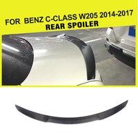 Авто Стайлинг углеродного волокна задний багажник спойлер багажника подходит для Benz C класс C180 C200 W205 4 дверный 2015 2016