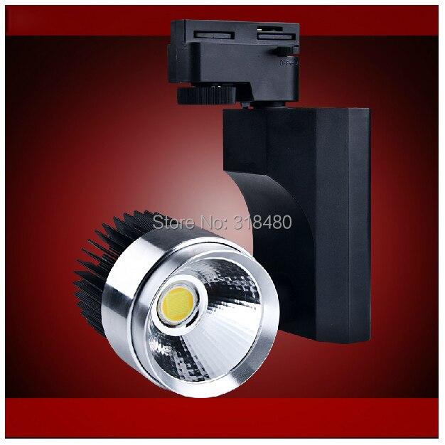 Indoor industrial Track Lighting fixtures 110V 230V LED COB 15W spot jewelry showcase LED tracking spot light aluminium cylinder