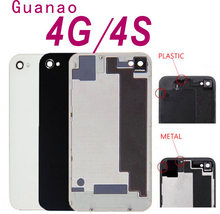 Kembali Perumahan untuk iPhone 4 S Baterai Belakang Pintu Sarung Perumahan  Panel Belakang Kaca Berkualitas Baik 33a9616c48