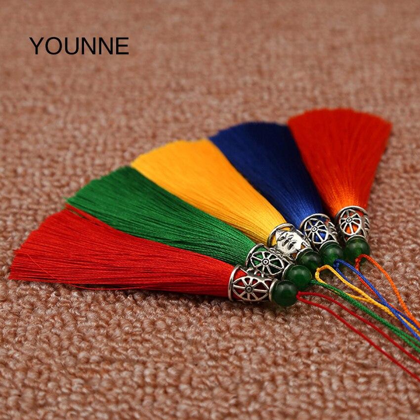 Younne Для женщин мешок с кисточкой аксессуары сплошной Цвет кисточкой много шелка Ленточки DIY ювелирные аксессуары для сумки кулон