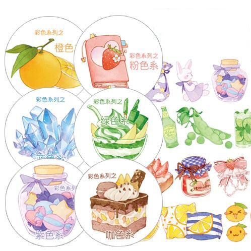 28mm Color Orange/strawberry/chocolate/pea/grape Series Kawaii Delicious Food Dessert Washi Tape DIY Scrapbooking Masking Tape