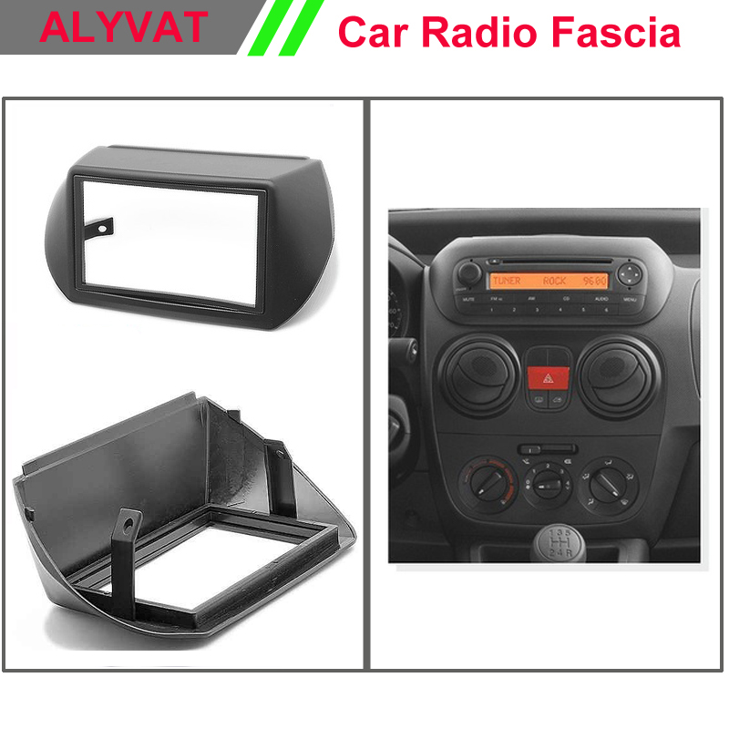 Top Quality Radio Fascia for CITROEN Nemo PEUGEOT Bipper FIAT Fiorino Stereo Fascia Dash CD Trim Installation Kit 11 405 car radio dash cd panel for kia skoda citigo volkswagen up seat mii stereo fascia dash cd trim installation kit