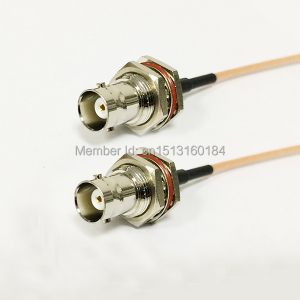 New Modem Coaxial Pigtail BNC  Female Jack  Connector Switch  BNC  Female Jack  Connector  RG316 Cable  15CM 6