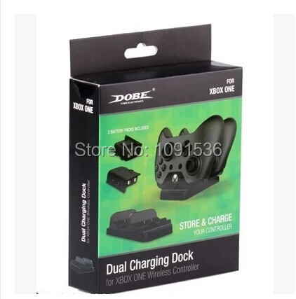 Dual Charging Dock Controller Charger + 2pcs Rechargeable Batteries FOR Xbox One