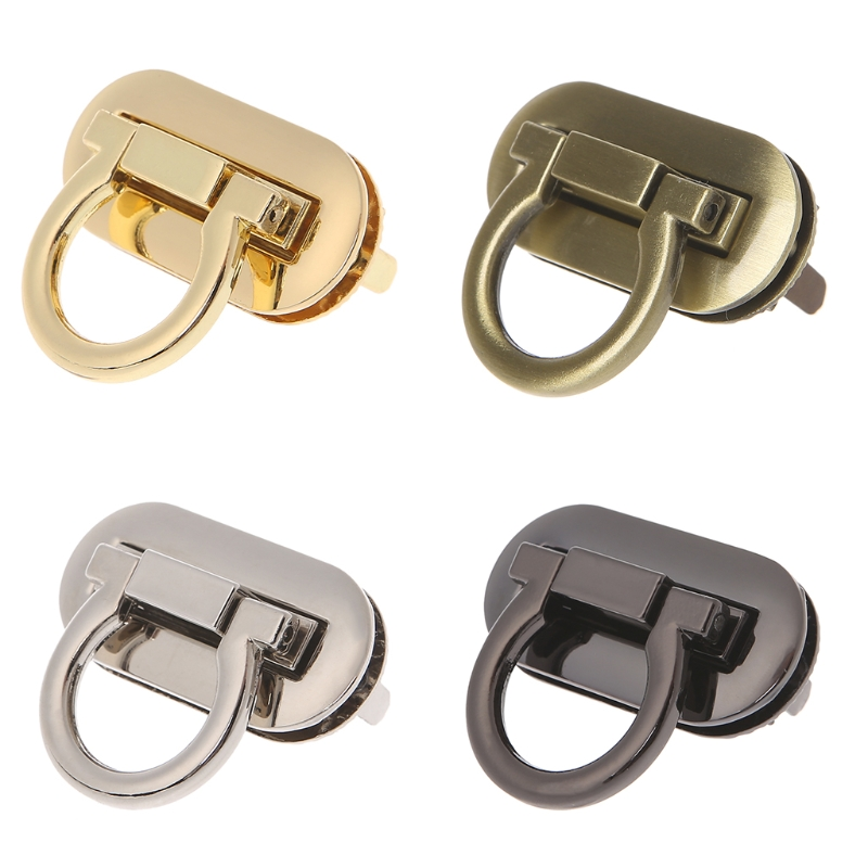 Bowknot Snap Twist Turn Lock Clasps Closure Purse Handbag DIY Hardware Accessory