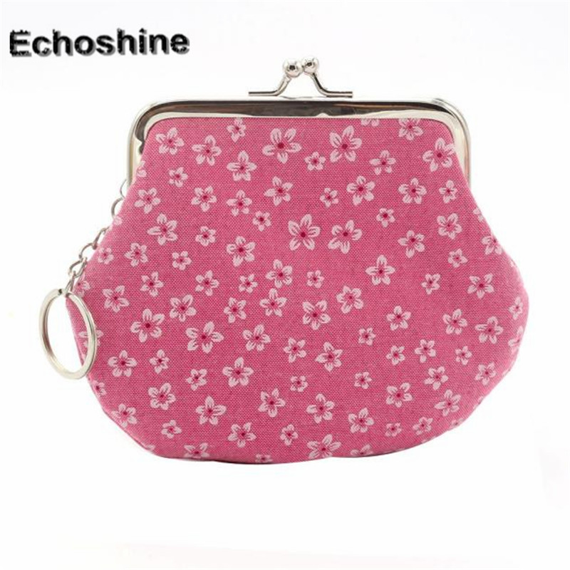 2016 hot Women Lady Retro Vintage Flower Small Wallet Hasp Purse Clutch Bag Card Bag Coin Purse Clutch Pockets gift wholesale