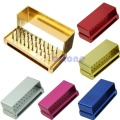 U119 Free Shipping 30 Holes Dental Bur Burs Holder Block Autoclave Disinfection Aluminum Sterilizer