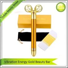 24K Gold Energy Vibrating Bar Anti Wrinkle Fat Wrinkle Cellulite Reudction Skin Tightening Face Lift Firm Slim Roller Massager